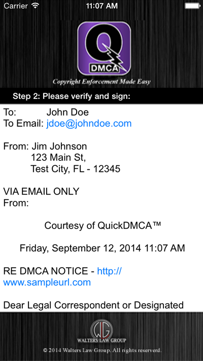 QuickDMCA Screenshot #4