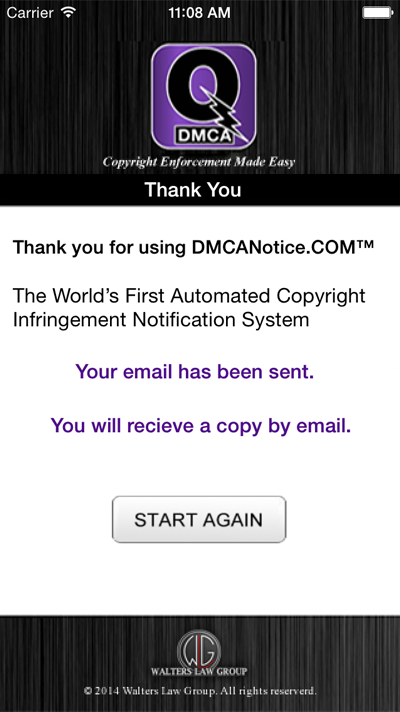 QuickDMCA Screenshot #5